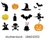 halloween icon pack 1 2   with... | Shutterstock .eps vector #18601052
