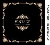 vintage gold background  square ... | Shutterstock .eps vector #186010919