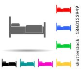 bed multi color style icon....