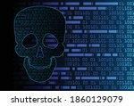 skull cyber circuit future...   Shutterstock .eps vector #1860129079