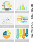 flat infographic element set