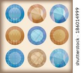 set of abstract modern elements....   Shutterstock .eps vector #186014999