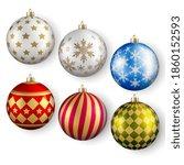 shiny glossy ball sphere... | Shutterstock .eps vector #1860152593