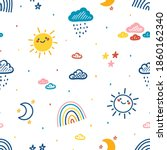 colorful baby pattern with... | Shutterstock .eps vector #1860162340