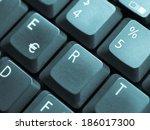 detail of keys on a computer...   Shutterstock . vector #186017300