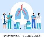 lungs anatomy  respiratory... | Shutterstock .eps vector #1860176566