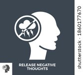 release negative thoughts glyph ... | Shutterstock .eps vector #1860177670