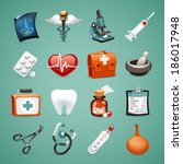 medical icons set1.1 in the eps ... | Shutterstock .eps vector #186017948