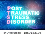 acronym ptsd   post traumatic... | Shutterstock . vector #1860183106