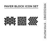 paving block  concrete pavers... | Shutterstock .eps vector #1860202666
