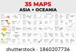 asia and oceania map... | Shutterstock .eps vector #1860207736