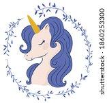 unicorn vector illustration for ... | Shutterstock .eps vector #1860253300