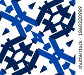 Seamless Blue Pattern. Blue And ...