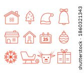 christmas flat icons  element... | Shutterstock .eps vector #1860321343