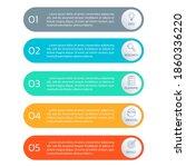 5 steps  option or levels... | Shutterstock .eps vector #1860336220