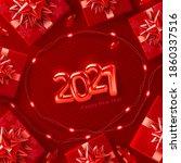 red background for christmas... | Shutterstock .eps vector #1860337516