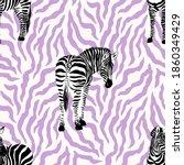 hand drawn seamless pattern... | Shutterstock .eps vector #1860349429