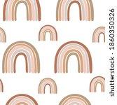 boho nursery rainbow pattern... | Shutterstock .eps vector #1860350326
