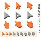 cursors icon set. vector...
