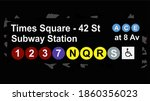 road marker to the subway...   Shutterstock .eps vector #1860356023
