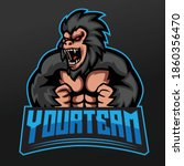 King Kong Monkey Mascot Sport...