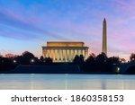 Sunset Shot Of Washington...