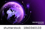 global world wide web internet. ... | Shutterstock .eps vector #1860360133