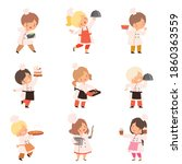 little chefs cooking in the...   Shutterstock .eps vector #1860363559
