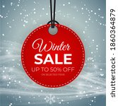 winter sale red tag vector... | Shutterstock .eps vector #1860364879