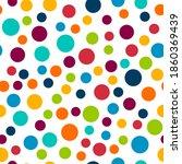 polka dot vector seamless... | Shutterstock .eps vector #1860369439