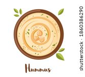 chickpeas hummus icon in flat... | Shutterstock .eps vector #1860386290