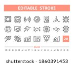 data analysis 20 line icons.... | Shutterstock .eps vector #1860391453