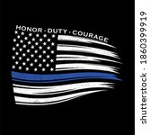 blue  line american flag  thin... | Shutterstock .eps vector #1860399919