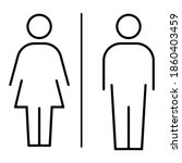 Man And Woman Icon. Symbol ...