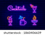 vector neon sign collection... | Shutterstock .eps vector #1860406639