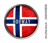 norwegian flag button | Shutterstock . vector #186040808