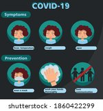 illustrated sign of symptoms... | Shutterstock .eps vector #1860422299
