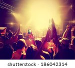 a crowd of people at a concert... | Shutterstock . vector #186042314