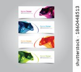 vector abstract banner web... | Shutterstock .eps vector #1860448513