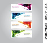 vector abstract banner web... | Shutterstock .eps vector #1860448516