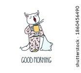 good morning. illustration of a ... | Shutterstock .eps vector #1860456490