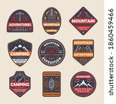 mountain expedition and camping ... | Shutterstock .eps vector #1860459466