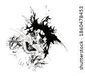 cat ink spot drop abstract...   Shutterstock . vector #1860478453