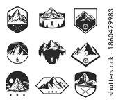set templates of outdoor travel ... | Shutterstock .eps vector #1860479983