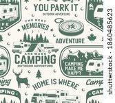 set of outdoor adventure...   Shutterstock .eps vector #1860485623