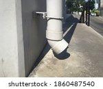 White Pvc Pipe Installation On...
