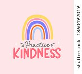 practice kindness inspirational ...   Shutterstock .eps vector #1860492019