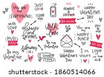 valentines day love quotes and... | Shutterstock .eps vector #1860514066