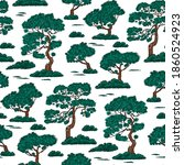 seamless pattern with pine tree   Shutterstock .eps vector #1860524923