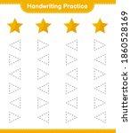 handwriting practice. tracing... | Shutterstock .eps vector #1860528169